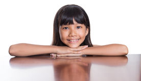 Girl With Her Face Reflection VI Stock Image