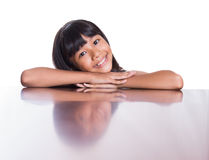 Girl With Her Face Reflection VII Stock Image