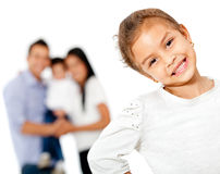 Girl with her family Stock Image