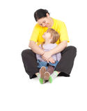 Girl with her fat mother Royalty Free Stock Photo
