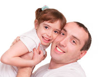 Girl and  her father Royalty Free Stock Photo