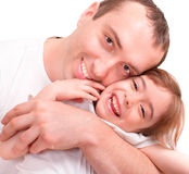 Girl and her father Royalty Free Stock Photography