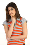 girl with her finger on the lips Royalty Free Stock Image