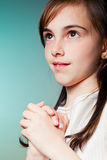 Girl in her First Communion Day Royalty Free Stock Photo