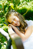 Girl in her First Communion Day Stock Images