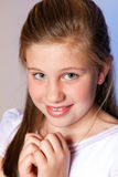 Girl in her First Communion Day Royalty Free Stock Photography