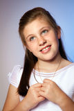 Girl in her First Communion Day Royalty Free Stock Images