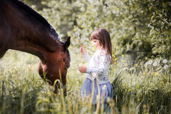 Girl with  her friend Royalty Free Stock Image