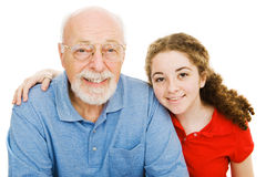 Girl and Her Grandpa Royalty Free Stock Photo