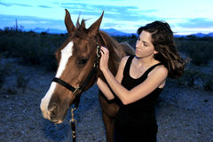 Girl and her Horse Royalty Free Stock Photo