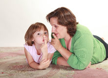 Girl with her Mom Stock Photo