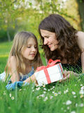 Girl with her mommy Royalty Free Stock Photography