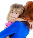 Girl with her mother. Royalty Free Stock Images
