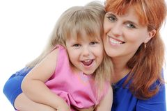 Girl with her mother Royalty Free Stock Photo