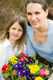 Girl and her mother Royalty Free Stock Photography