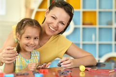 Girl  with her mother Royalty Free Stock Photography