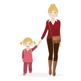 Girl with her mother Royalty Free Stock Photos