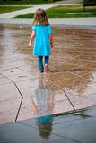 Girl and her reflection  Royalty Free Stock Photos