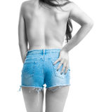 Girl and her shorts Stock Image