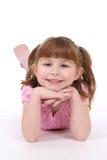 girl her smiling stomach Στοκ φωτογραφία με δικαίωμα ελεύθερης χρήσης