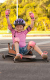 A girl and her soapbox. Stock Images