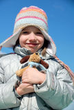 Girl with her Soft Toy Stock Photography
