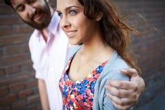 Girl and her sweetheart Stock Photo