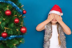 The girl hid in hands the face Royalty Free Stock Photo