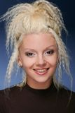 Girl with high coiffure Stock Images