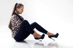 Girl in high heels Stock Photos