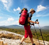 Girl in hike Stock Photos