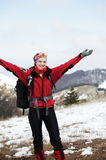 Girl in hike Royalty Free Stock Photo