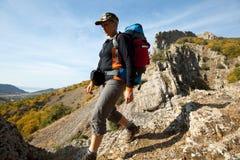 Girl in hike Stock Photo