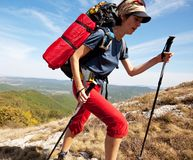 Girl in hike Royalty Free Stock Images