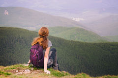 Girl hiker Royalty Free Stock Photos