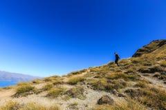 Girl hiker on Ben Lomond Stock Photo