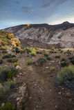 Girl Hiker in a Brimhall Natural Bridge Trail Capitol Reef Nati Royalty Free Stock Image