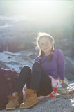 Girl hiker Royalty Free Stock Images