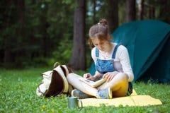 Girl hiker Stock Image