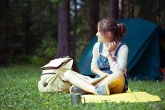 Girl hiker Royalty Free Stock Photo