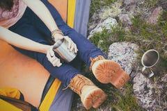 Girl hiker Stock Photos