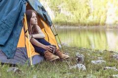 Girl hiker Stock Photo