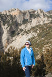 Girl hiking in Huesca. Spain Royalty Free Stock Photography