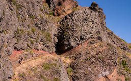 Girl hiking in Madeira Royalty Free Stock Photo