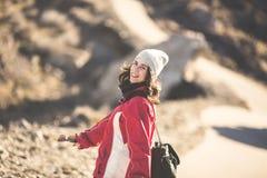 Girl hiking Stock Photography