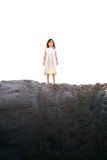 Girl on Hill Stock Photo