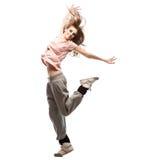 Girl hip-hop dancer Royalty Free Stock Photography