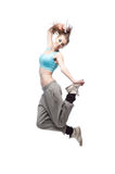 Girl hip-hop dancer Stock Images
