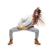 Girl hip-hop dancer Royalty Free Stock Photo