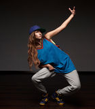 Girl hip-hop dancer Royalty Free Stock Photos
